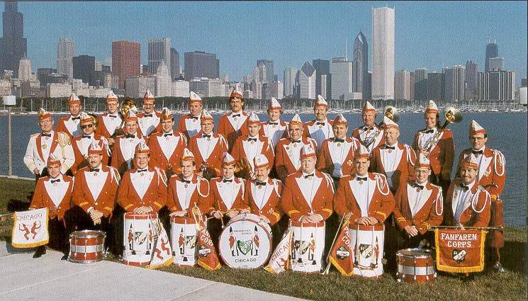 The Fanfaren Corps on Chicago's Lakefront.